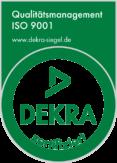 DEKRA Siegel Qualitätsmanagement ISO 9001 zertifiziert - Steffen Holzbau